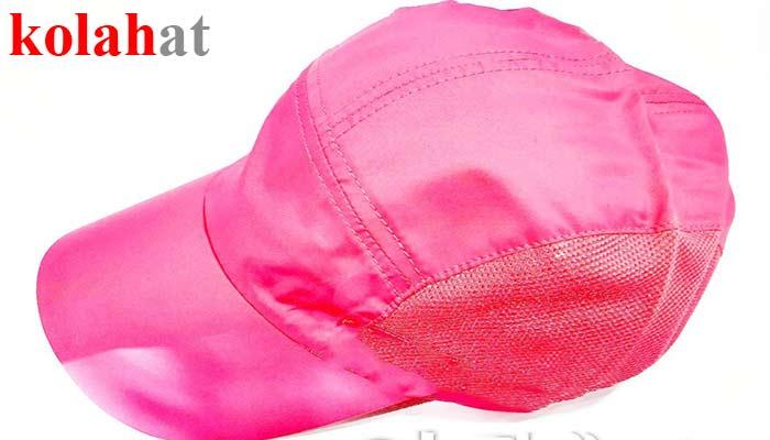 کلاه آفتابی صورتی تولید در کلاه فروشی kolahat