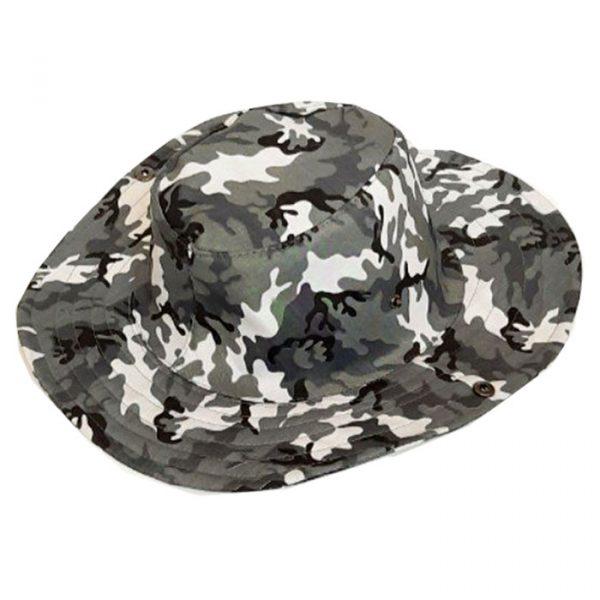 کلاه کابوی پلنگی رنگ طوسی