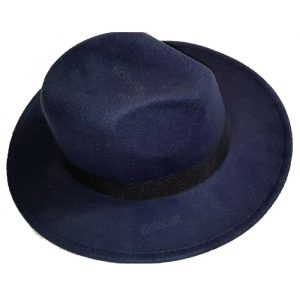 کلاه خاخامی نمدی رنگ سورمه ای