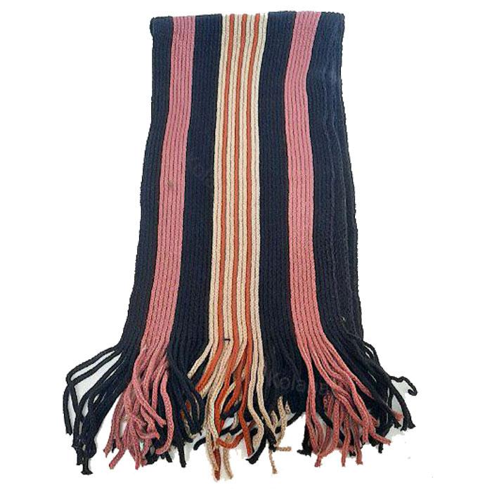 شال گردن راه راه بافته شده دارای رنگ بندی K10000036