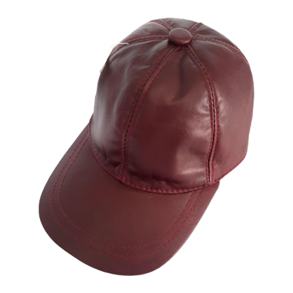 کلاه نقاب دار چرم اصل قهوه ای تیره