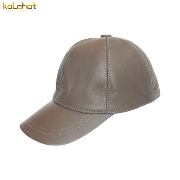 کلاه نقاب دار چرم اصل طوسی
