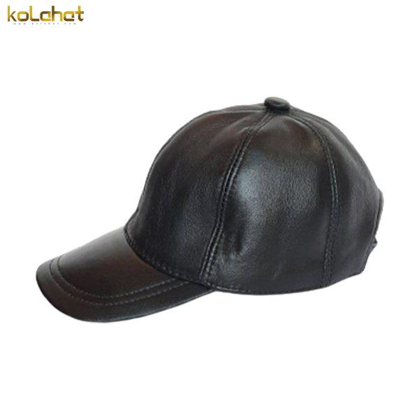 کلاه نقاب دار چرم اصل مشکی