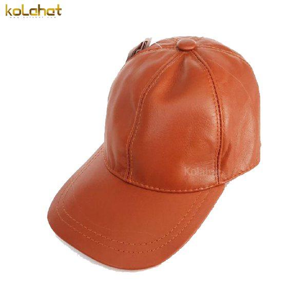 کلاه نقاب دار چرم اصل قهوه ای
