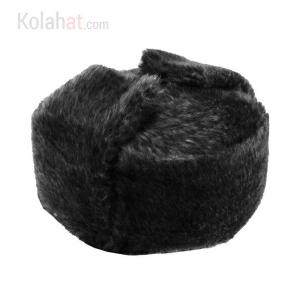 کلاه روسی زمستانی طرح پوست رنگ مشکی کد121