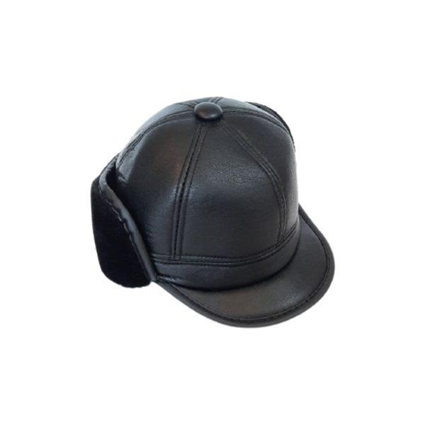کلاه شکاری چرم مصنوعی خز دار