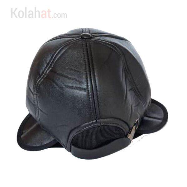 کلاه نقابدار چرم زمستانی مردانه دارای گوشگیر کد124