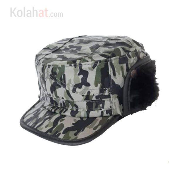 کلاه شکاری چریکی با رویه ضد آب و خزدار کد134
