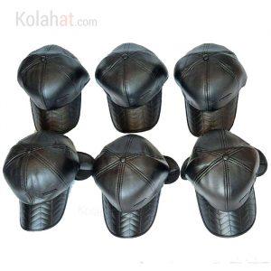 فروش عمده کلاه ضدآب نقابدار چرم زمستانی مردانه کد135