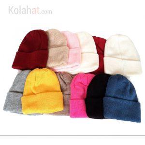 فروش عمده حداقل 12تایی کلاه رنگی ریز بافت کد140
