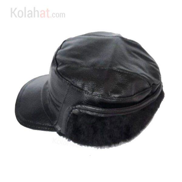 فروش عمده کلاه شکاری چرم مصنوعی گوشگیر دار کد139
