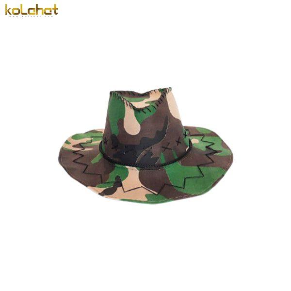 کلاه کابوی جیر طرح چریکی سبز