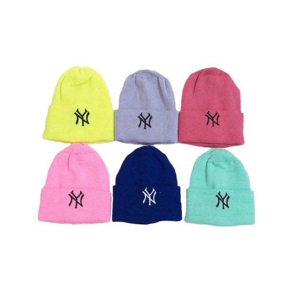 کلاه رنگی بافت گلدوزی NY