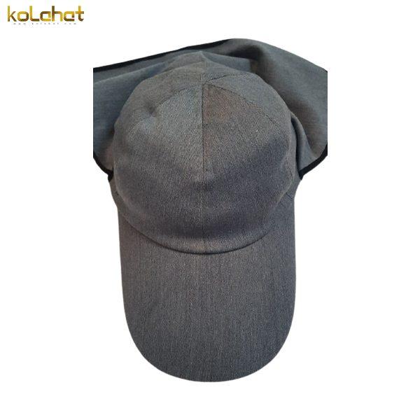 کلاه مهندسی نقاب بلند طوسی