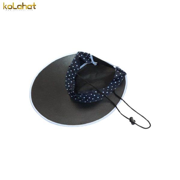 آفتابگیر کلاه دار زنانه خال دار