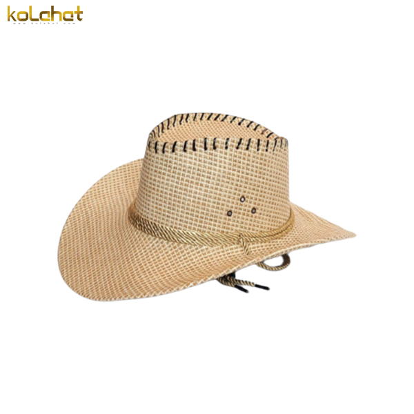 کلاه کابوی طرح حصیر کرمی
