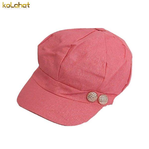 کلاه کاپیتانی زنانه گلبهی