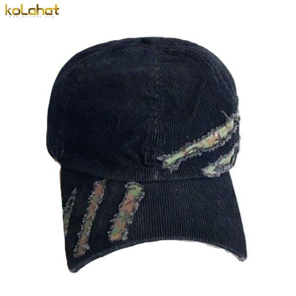 کلاه نقاب دار مخمل زاپ دار سرمه ای
