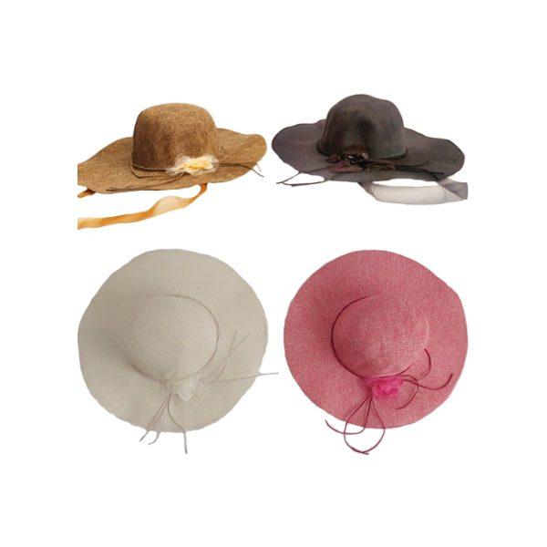 کلاه ساحلی زنانه گلدار