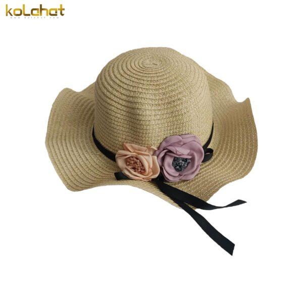 کلاه ساحلی دخترانه گلدار