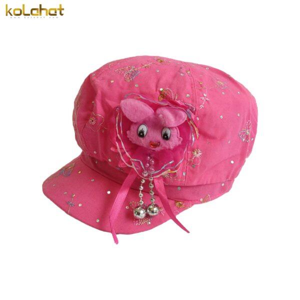 کلاه کاپیتانی دخترانه طرح عروسکی
