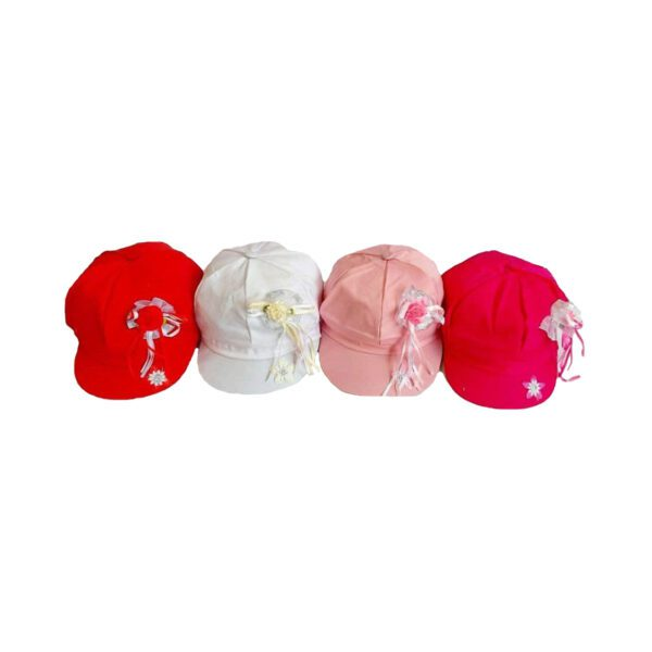 کلاه کاپیتانی دخترانه طرح گل