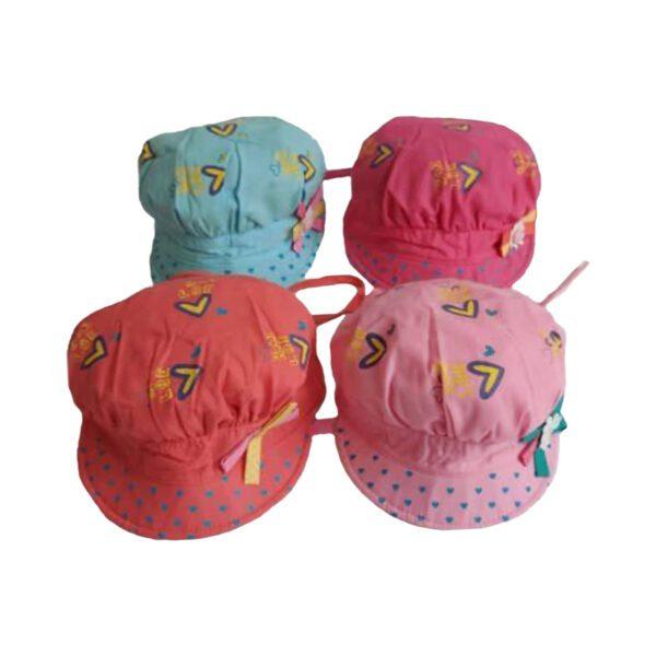 کلاه کاپیتانی دخترانه گل دار