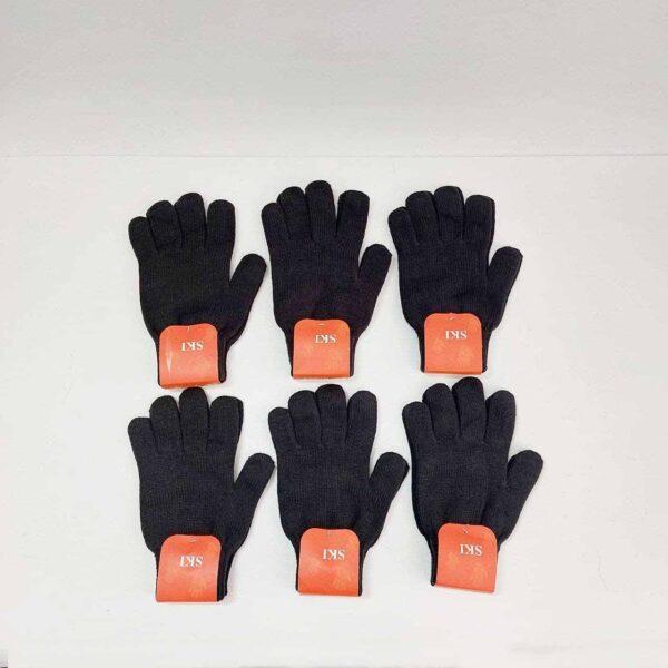 دستکش بافت مردانه مشکی عمده ( KLT-O161 )