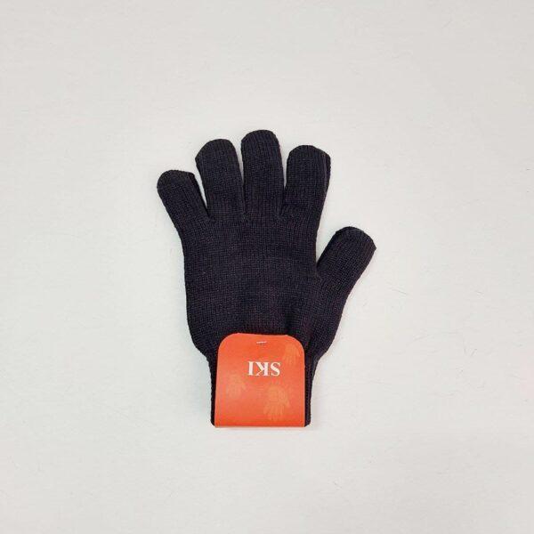 دستکش بافت مردانه مشکی ( KLT-T82 )