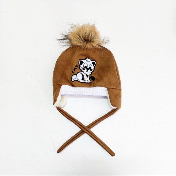 کلاه نوزادی گوشدار طرح میکس عمده ( KLT-O167 )