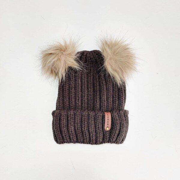 کلاه بافت زنانه لبه دار پوم دار عمده ( KLT-O171 )