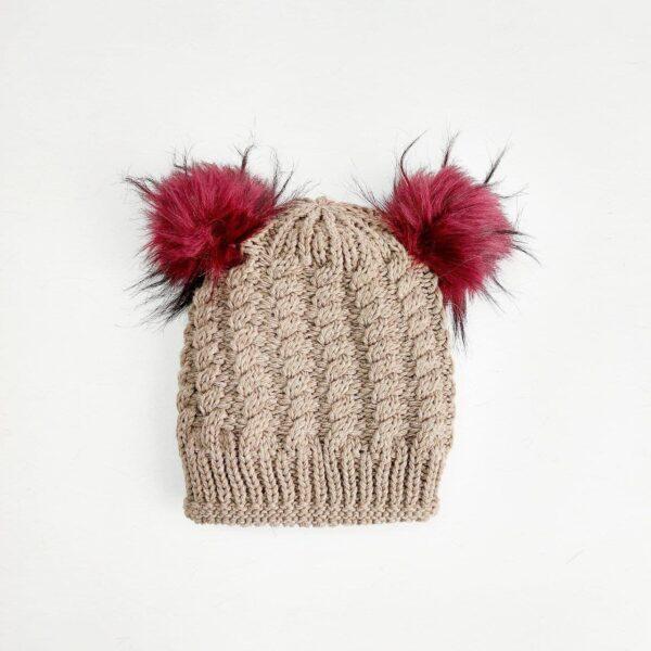 کلاه بافت زنانه پوم دار عمده