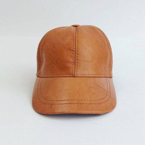 کلاه بیسبالی قهوه ای چرم اصلی