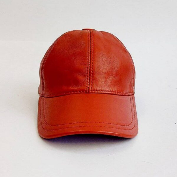 کلاه بیسبالی قرمز چرم اصلی